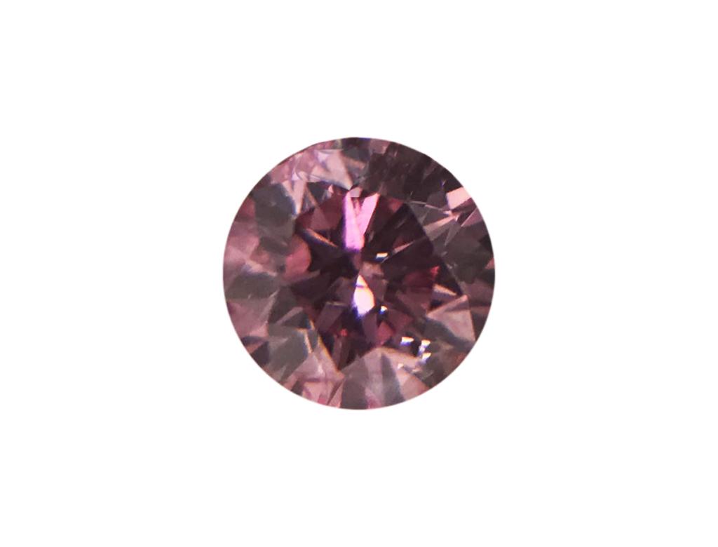 0.11ct粉紅彩鑽石