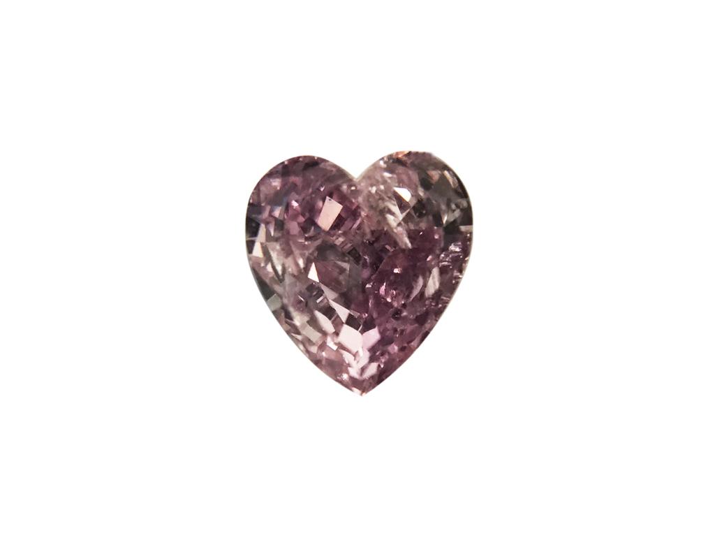 GIA 0.22ct 粉紅紫彩鑽石