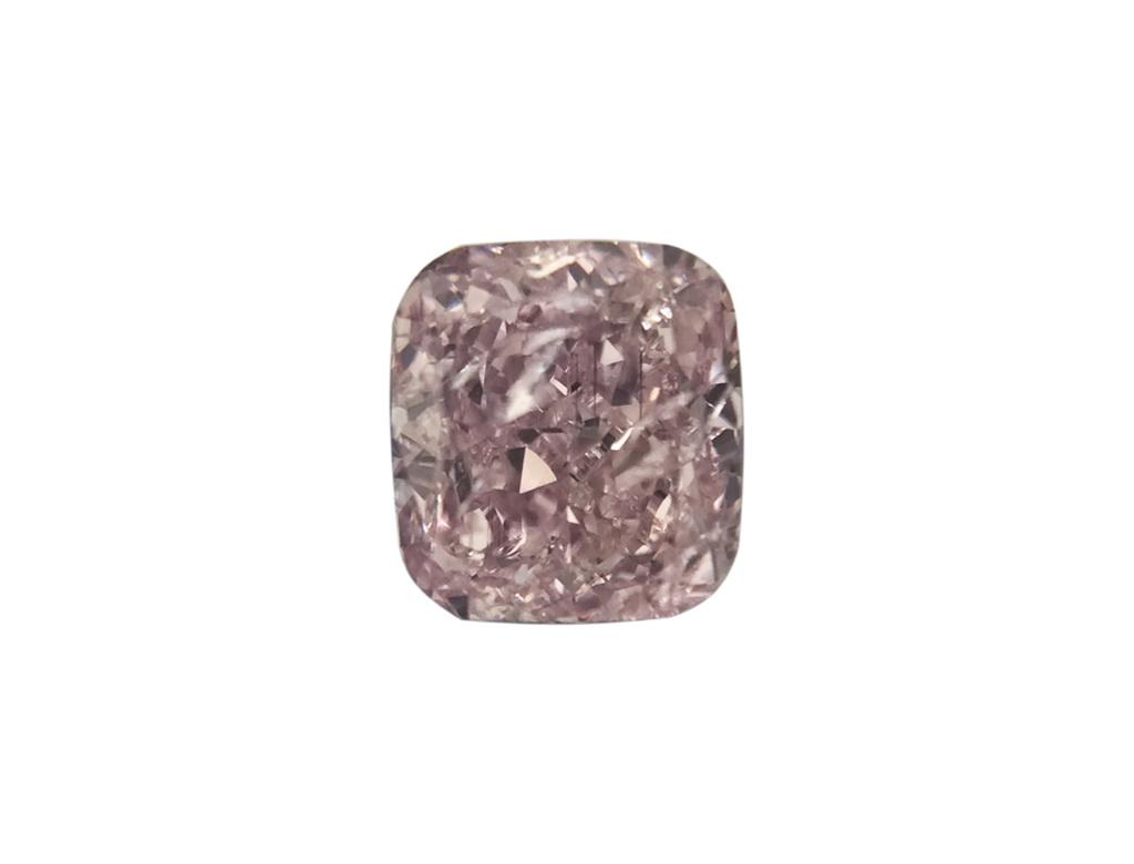 0.27ct 紫粉紅彩鑽石