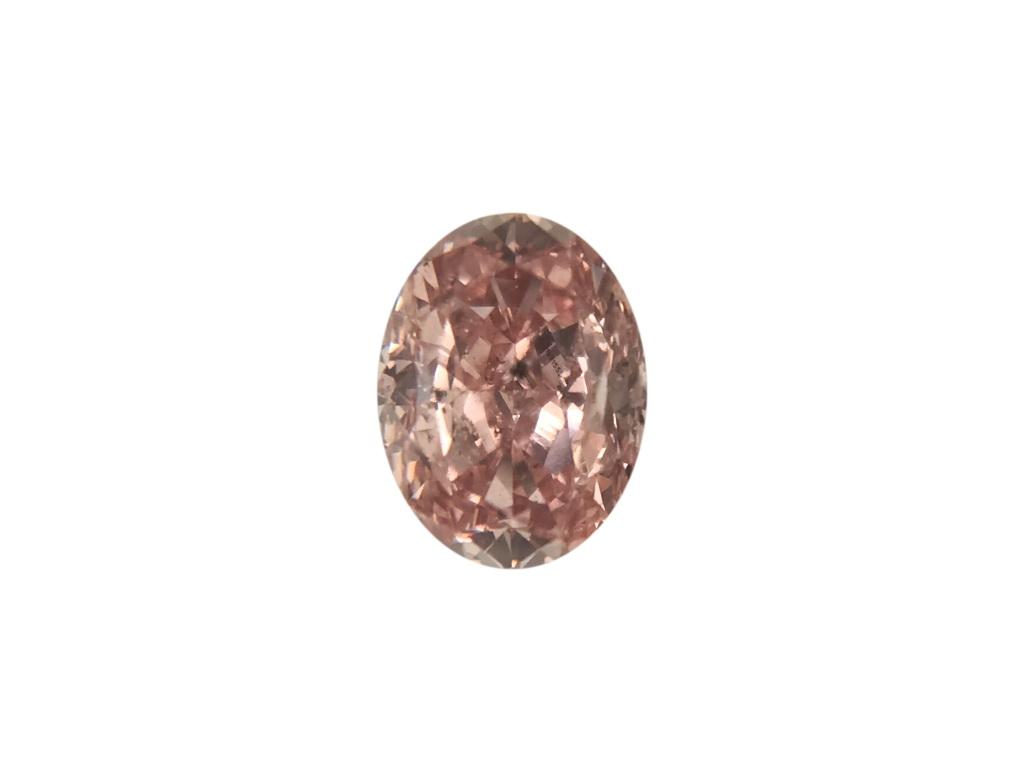 0.28ct橘粉紅彩鑽石