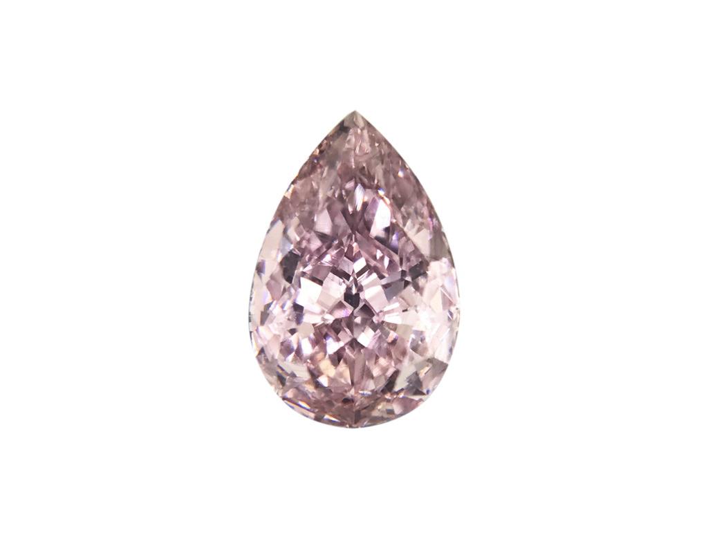 0.30ct粉紅紫彩鑽石