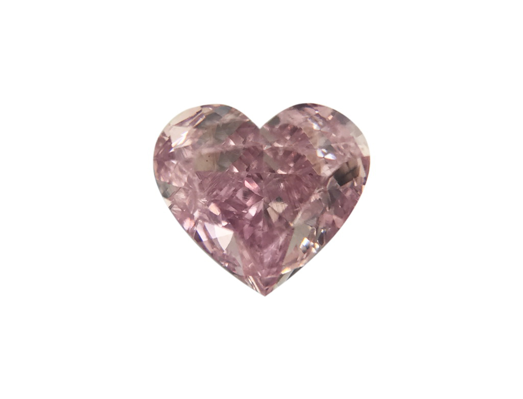 0.33ct粉紅紫彩鑽石