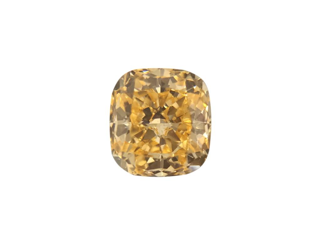 0.33ct橘色彩鑽石