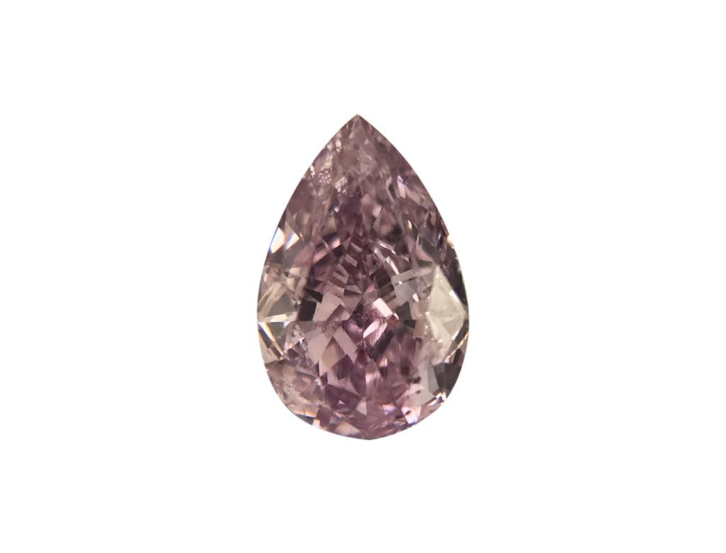 0.40ct粉紅紫彩鑽石