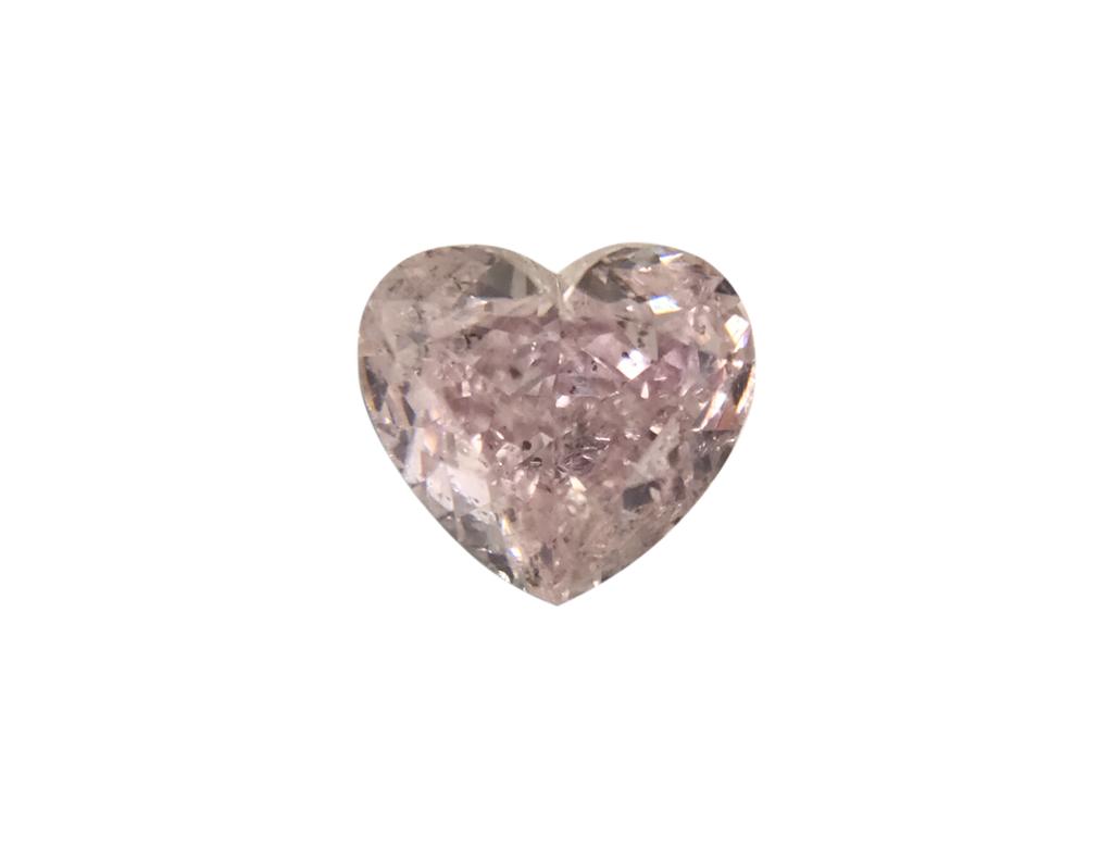 0.42ct紫粉紅彩鑽石
