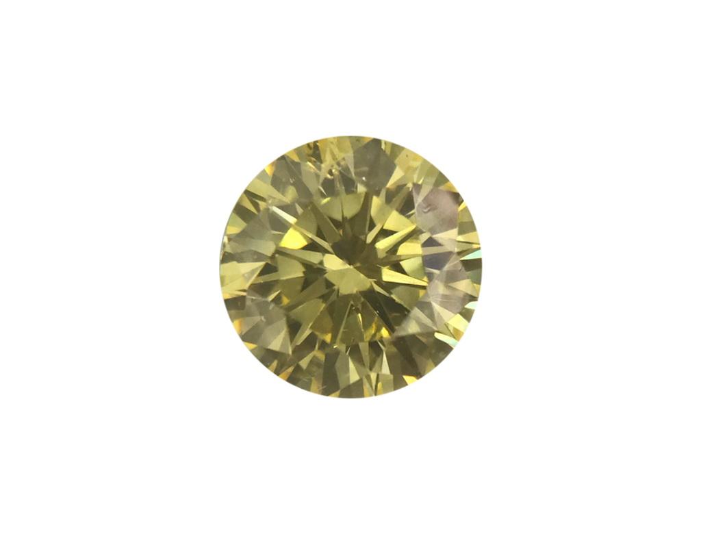 0.47ct黃色彩鑽石