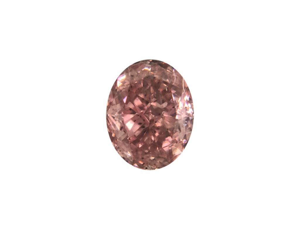 0.61ct粉紅彩鑽石