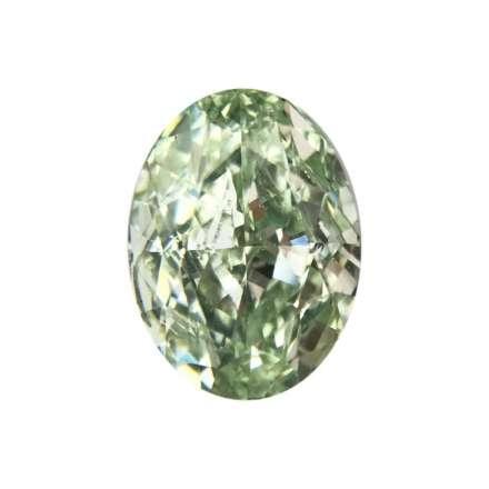 0.68ct綠色彩鑽石