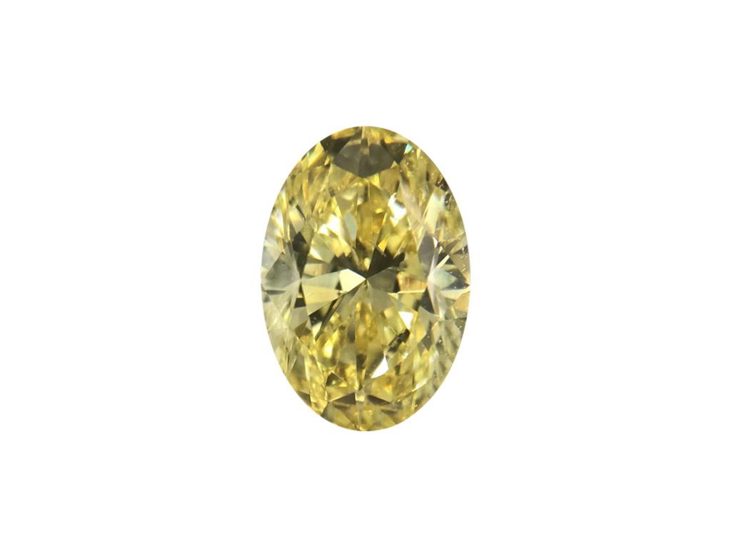 0.76ct黃色彩鑽石
