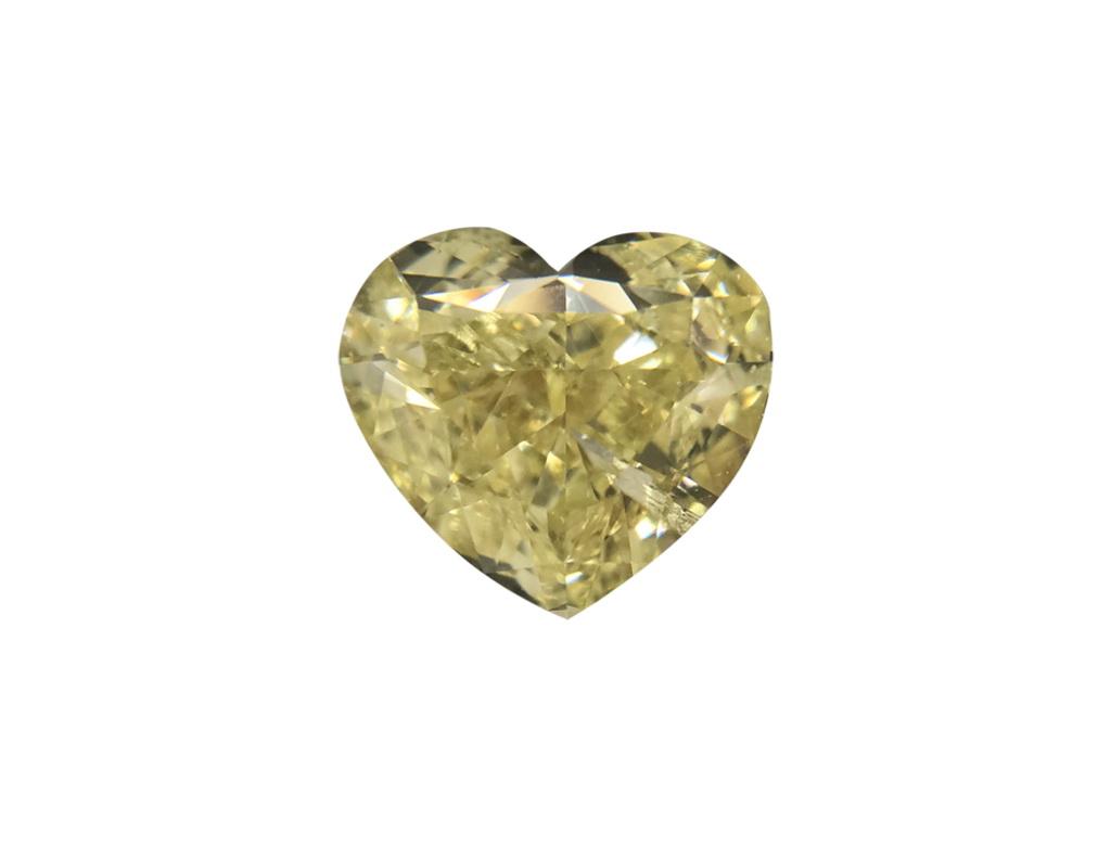1.01ct黃色彩鑽石