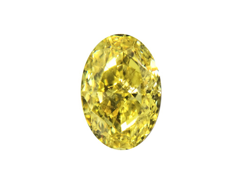 1.14ct黃色彩鑽石
