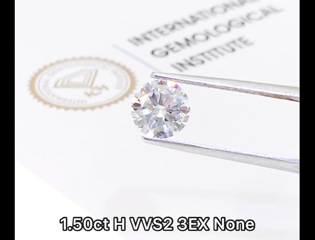IGI 1.50ct H VVS2