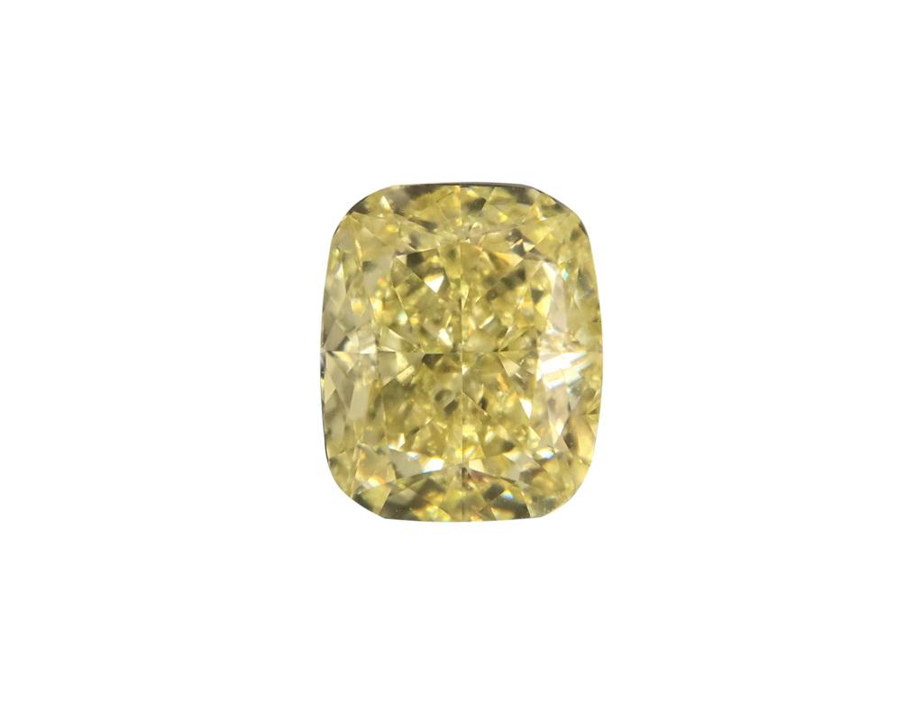 1.58ct黃色彩鑽石