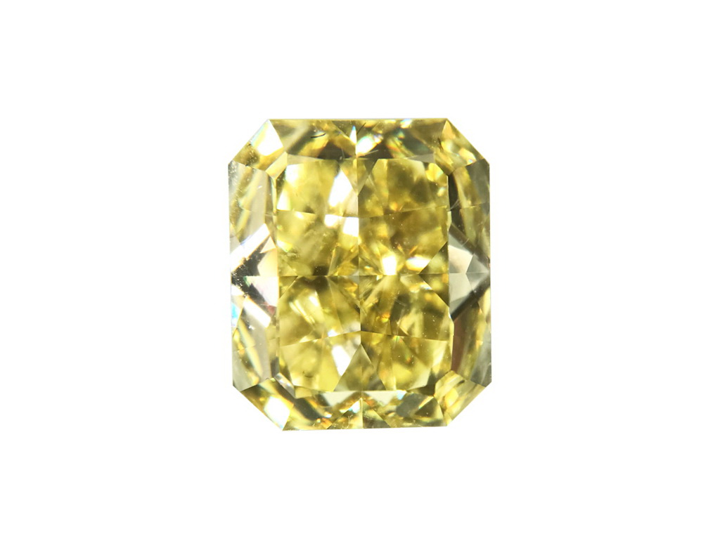 2.14ct黃色彩鑽石