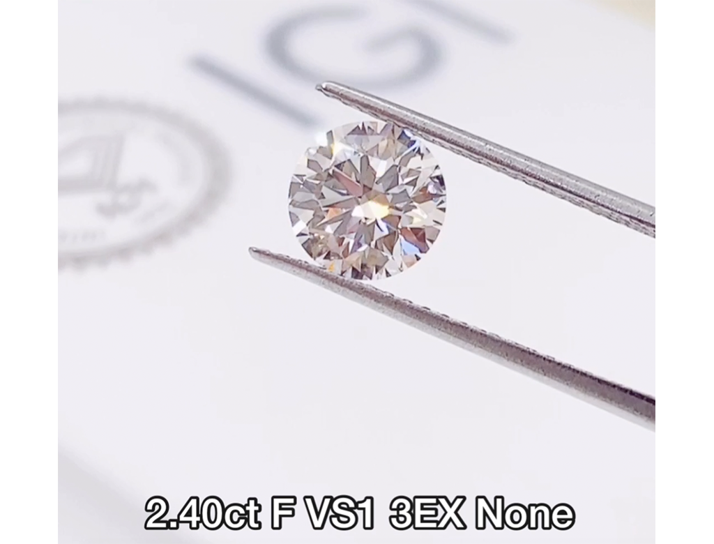 IGI 2.40ct F VS1