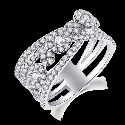 18K時尚鑽石戒指