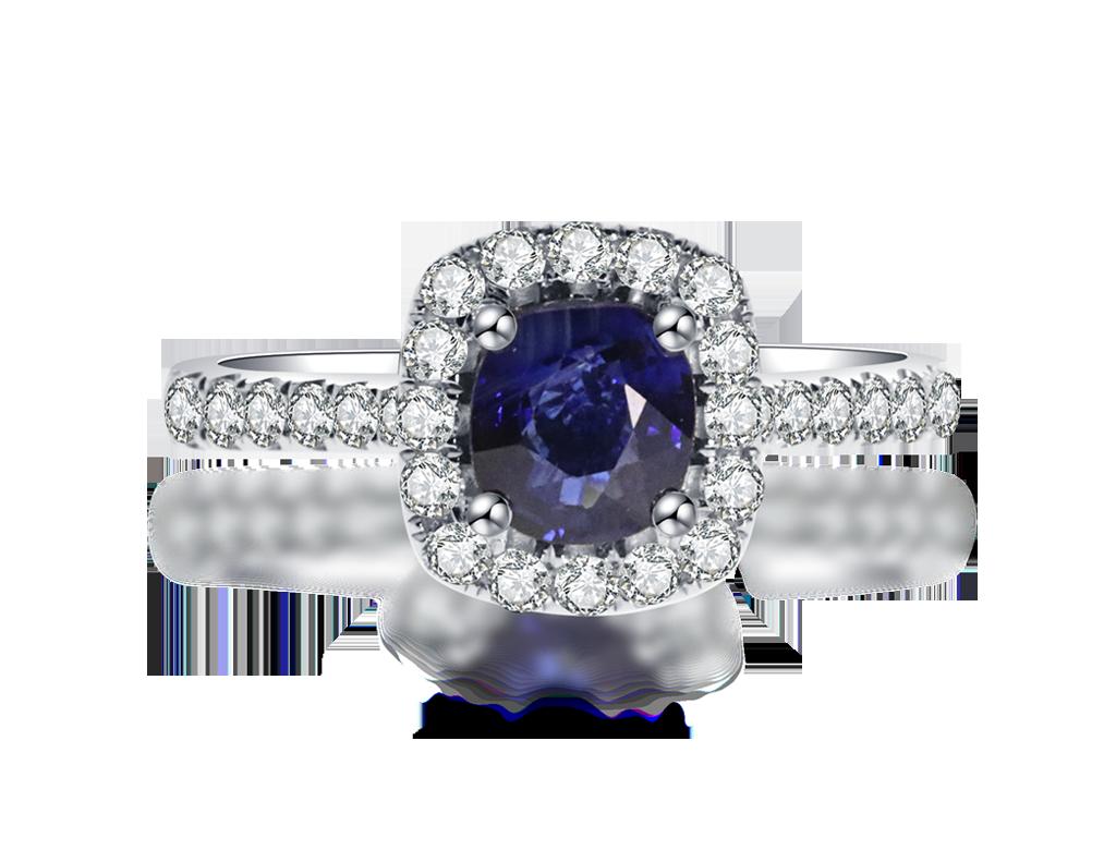 18K藍寶石鑽戒
