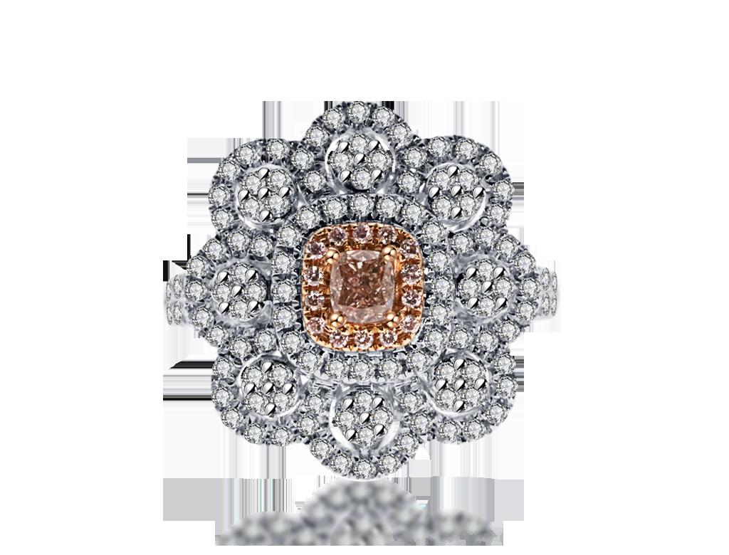 18K粉紅鑽石戒指
