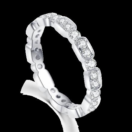 18K全圈鑽石戒指
