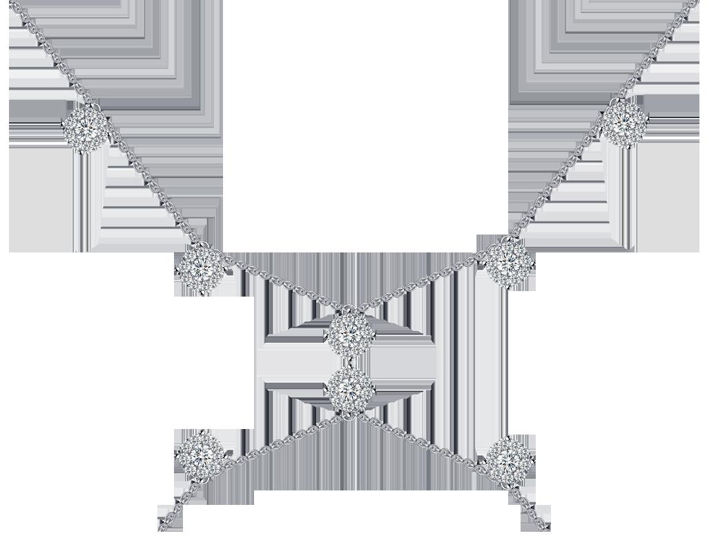 18K鑽石頸鏈