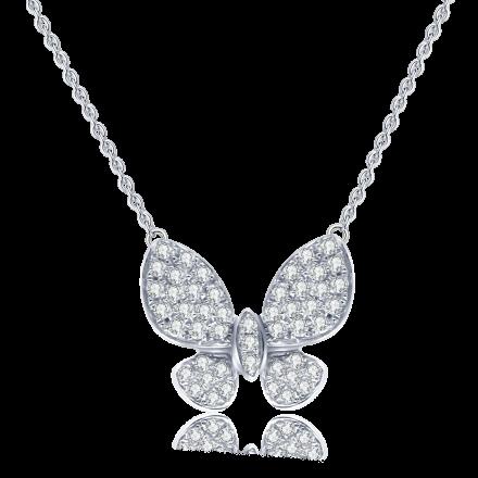 18K蝴蝶鑽石吊咀