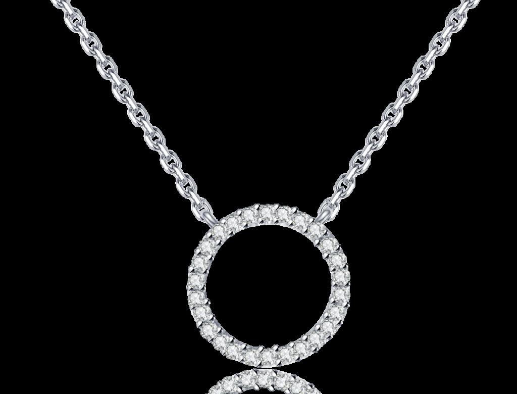 18K圓圈鑽石吊咀