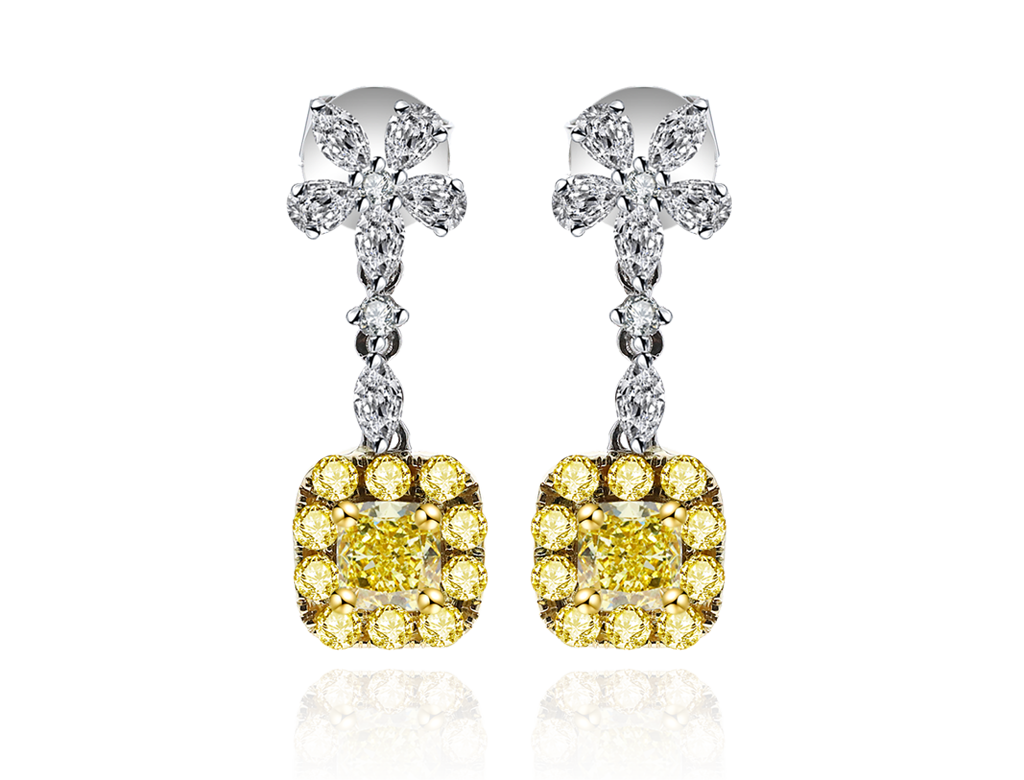 18K 黃鑽耳環