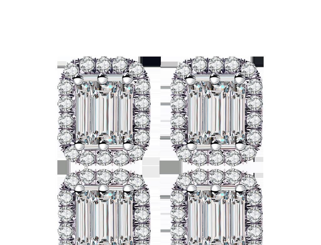 18K鑽石耳環