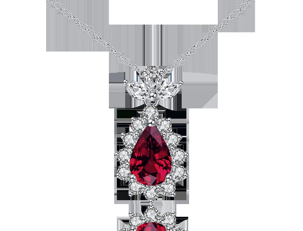 18K紅寶石鑽石鏈咀