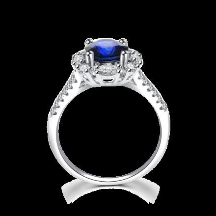 18K藍寶石戒指