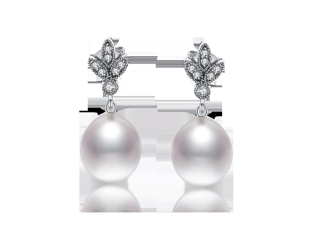 18K珍珠耳環
