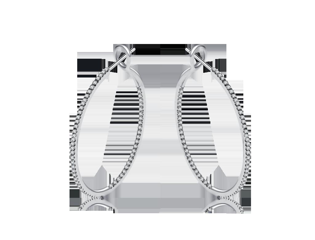 18K鑽石圈耳環