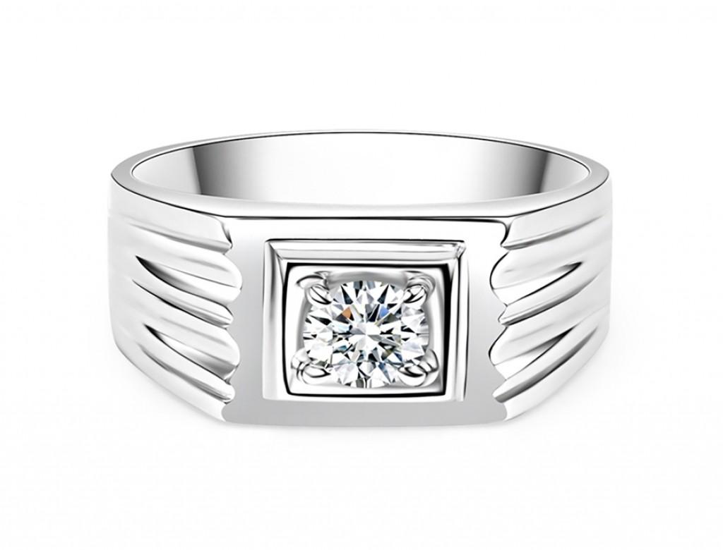 18K男仕鑽石戒指