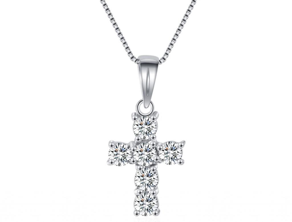 18K十字架鑽石吊咀