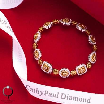 18K黃鑽石手鏈