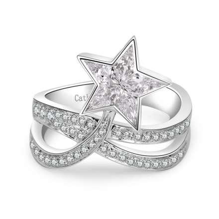 18K星願鑽石戒指