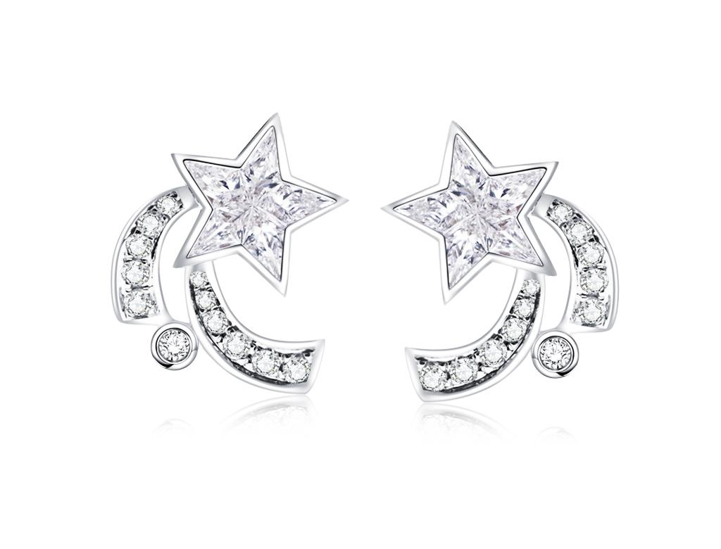 18K星願鑽石耳環