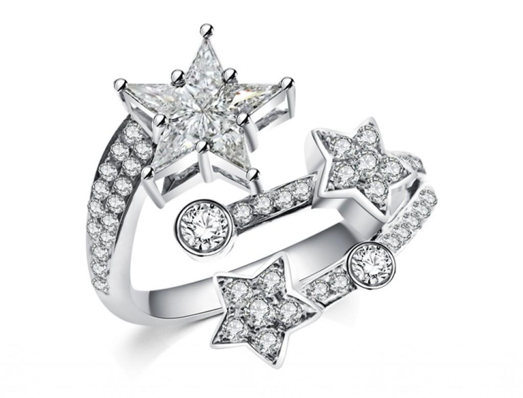 18K星辰鑽石戒指