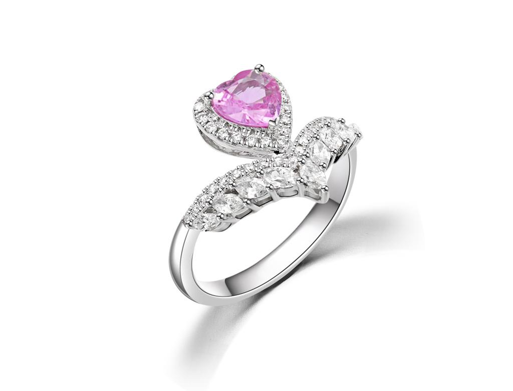 18K粉紅寶石戒指