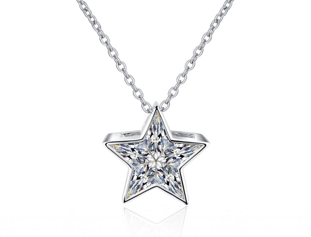 18K星辰鑽石吊咀
