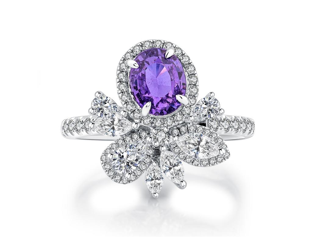 18K紫粉紅寶石