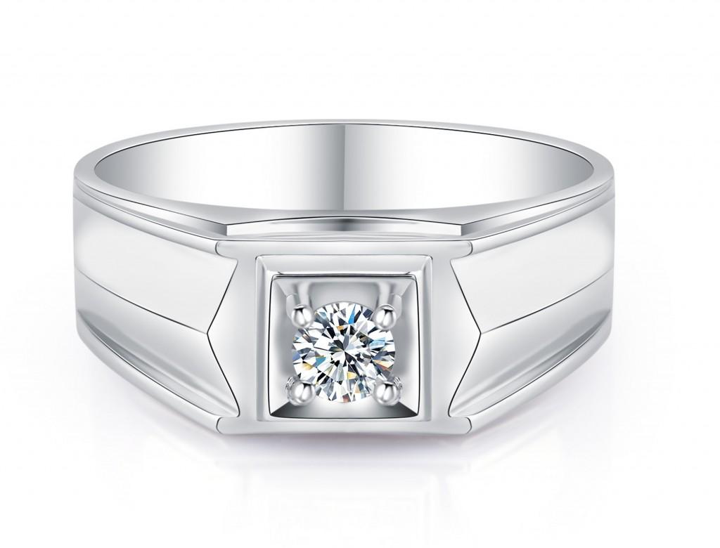 18K鑽石男裝戒指