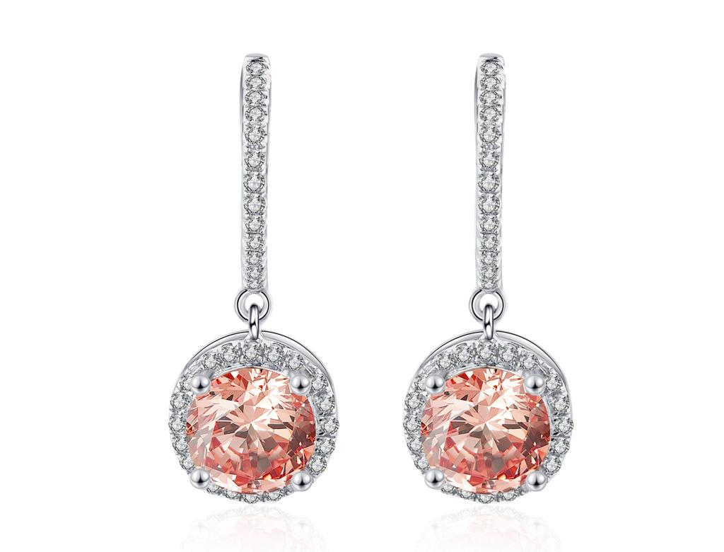 粉紅摩根石耳環