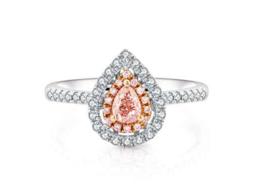 18K粉紅鑽戒指