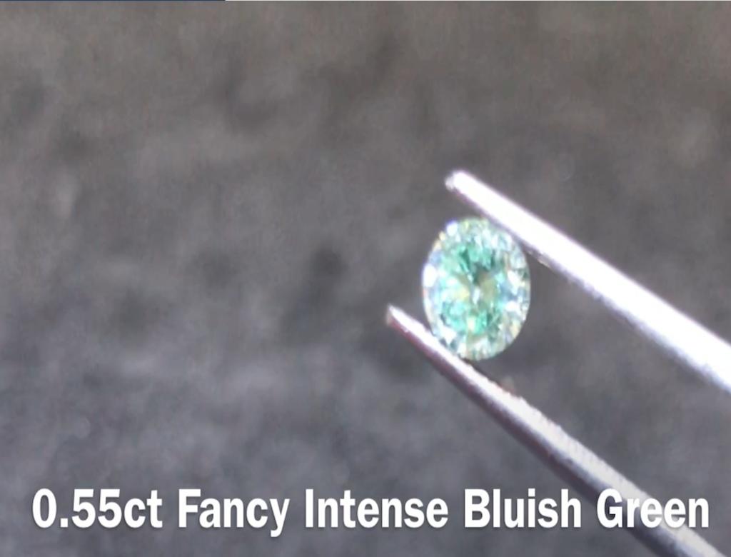 0.55ct綠色彩鑽石