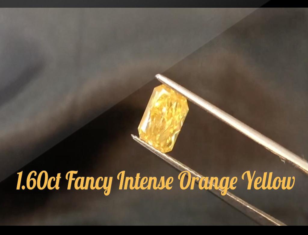 1.60ct黃色彩鑽石