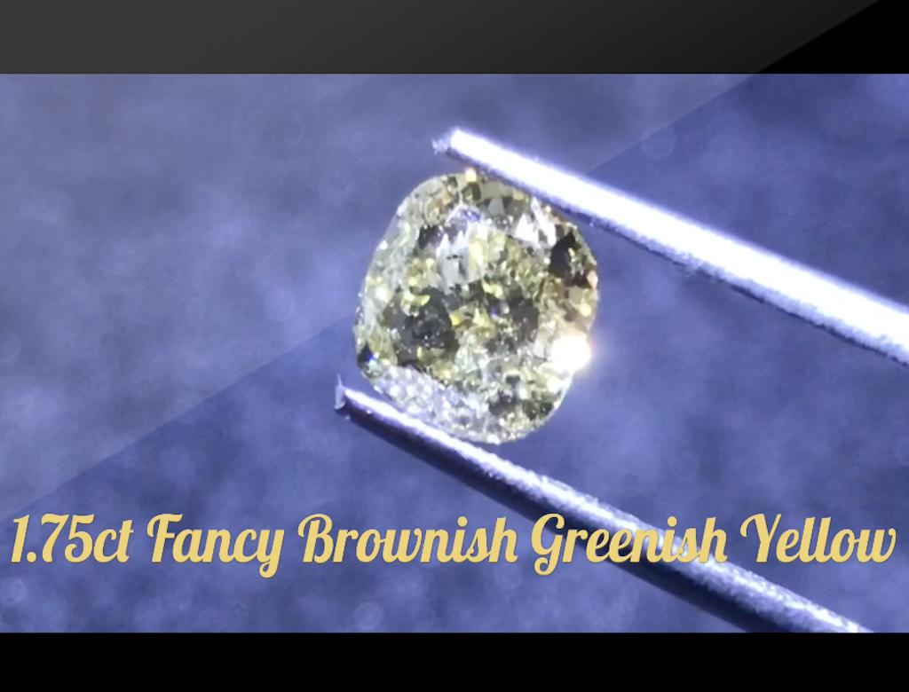 1.75ct黃色彩鑽石