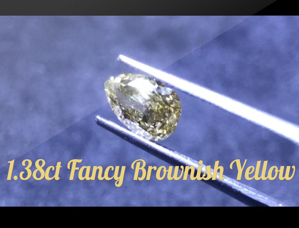 1.38ct黃色彩鑽石