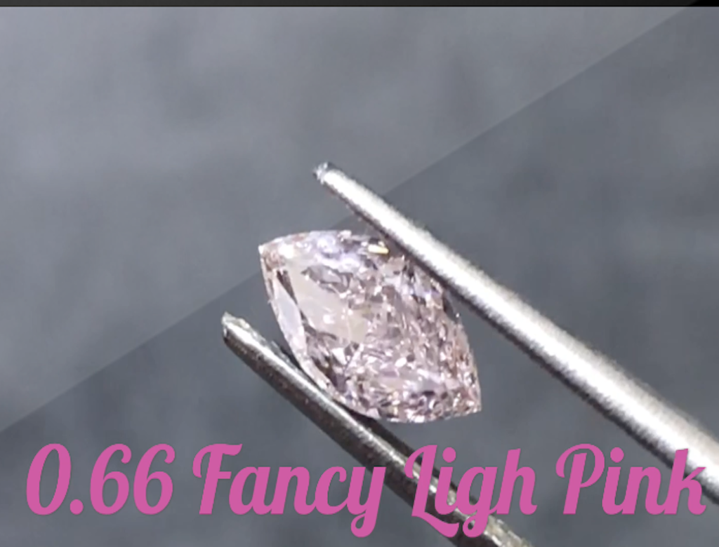 0.66ct粉紅彩鑽石