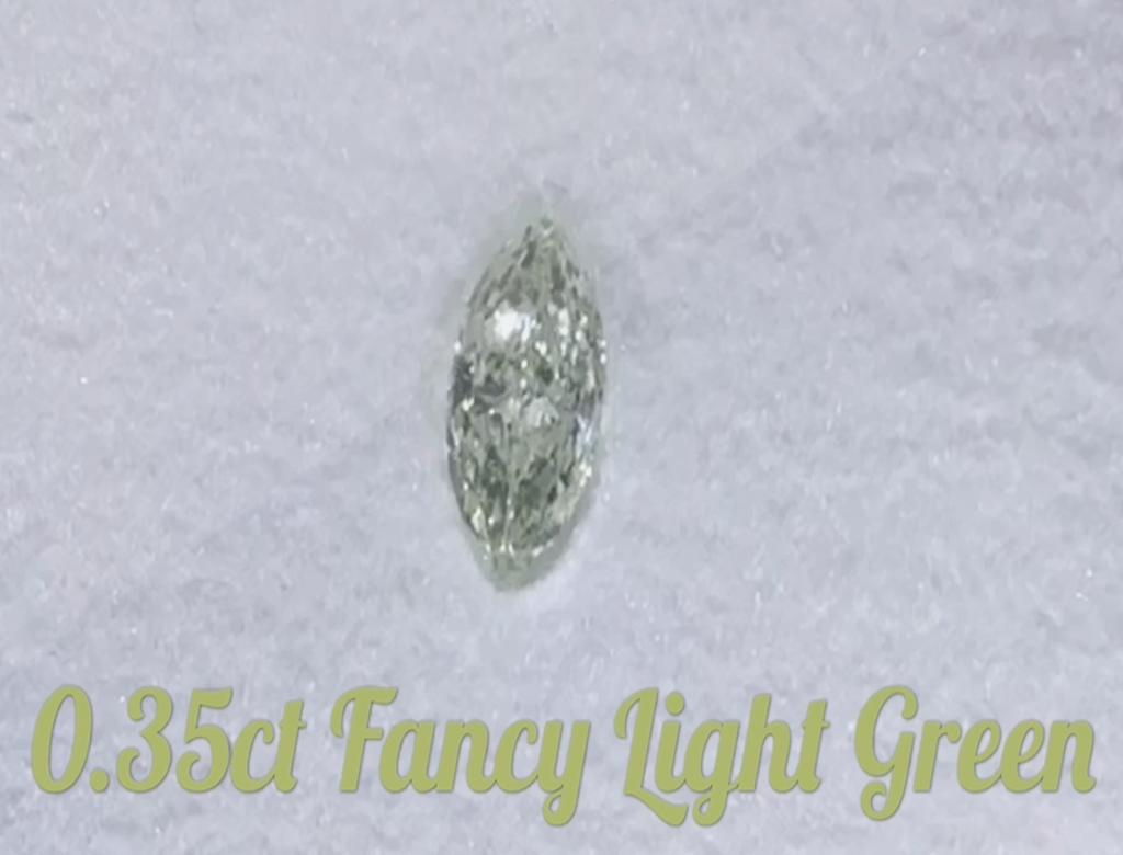 0.35ct綠色彩鑽石